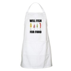 Will Fish For Food BBQ Apron