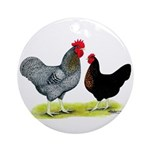 Black Sex-linked Chickens Ornament (Round)