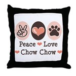 Peace Love Chow Chow Throw Pillow