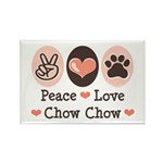 Peace Love Chow Chow Rectangle Magnet