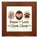 Peace Love Chow Chow Framed Tile
