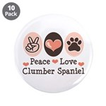 Peace Love Clumber Spaniel 3.5