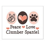 Peace Love Clumber Spaniel Small Poster