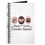 Peace Love Clumber Spaniel Journal