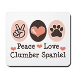 Peace Love Clumber Spaniel Mousepad
