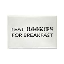 Eat Rookies Rectangle Magnet