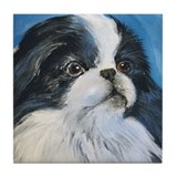 Japanese Chin Tile Coaster