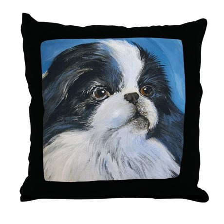 Japanese Chin Throw Pillow