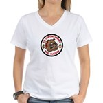 Khat Busters Women's V-Neck T-Shirt