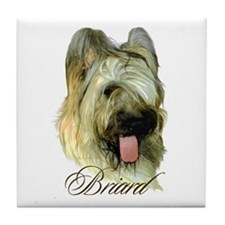 Briard Headstudy Tile Coaster