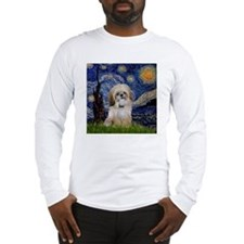 Starry Night & Shih Tzu Long Sleeve T-Shirt