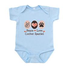 Peace Love Cocker Spaniel Infant Bodysuit
