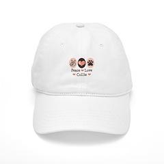 Peace Love Collie Cap