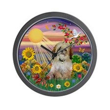 Autumn Sun & Shih Tzu Wall Clock