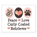 Peace Love Curly Retriever Small Poster