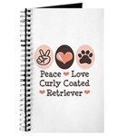 Peace Love Curly Retriever Journal