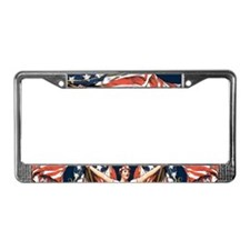 Vintage American Flag Art License Plate Frame