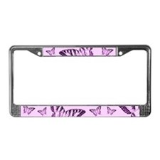 Purple Butterflies License Plate Frame