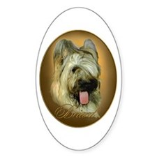 Briard Medallion Oval Decal