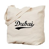 Vintage Dubai (Black) Tote Bag