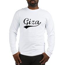 Vintage Giza (Black) Long Sleeve T-Shirt