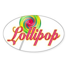 Text Lollipop Oval Decal