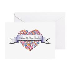 Love My Yoga Teacher Greeting Cards (Pk of 10)