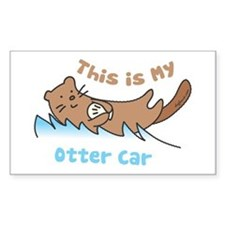 This Is My Otter Rectangle Decal