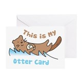 This Is My Otter Greeting Card