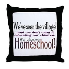 Funny Homeschool Throw Pillow