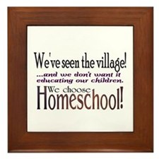 Funny Homeschool Framed Tile