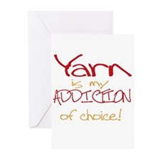 Yarn is my addiction of choic Greeting Cards (Pk o