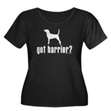 got harrier? Women's Plus Size Scoop Neck Dark T-S