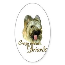 Briard Crazy Oval Decal