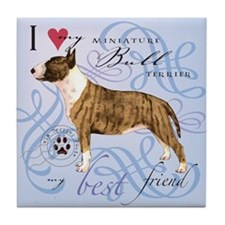 Miniature Bull Terrier Tile Coaster