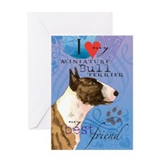 Miniature Bull Terrier Greeting Card