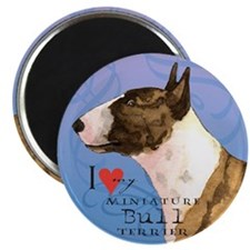 "Miniature Bull Terrier 2.25"" Magnet (10 pack)"