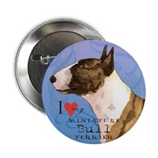 "Miniature Bull Terrier 2.25"" Button"
