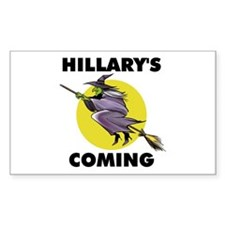 HILLARY WITCH Rectangle Decal
