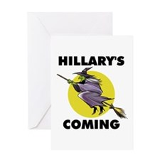 HILLARY WITCH Greeting Card