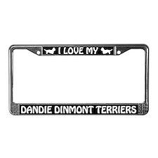 I Love My Dandie Dinmont Terriers License Frame