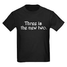 Three is the new two Kids Dark T-Shirt
