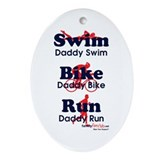 Triathlon Daddy Oval Ornament