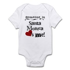 Santa Monica Loves Me Infant Bodysuit