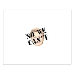 No We Can't Small Poster