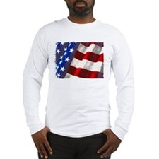 Americana Couture USA Flag Long Sleeve T-Shirt