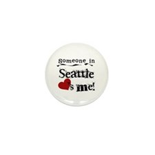 Seattle Loves Me Mini Button (100 pack)