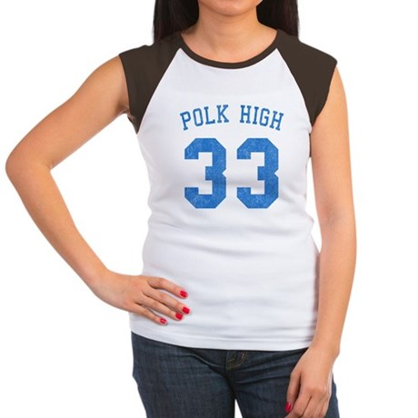 Polk High 33 Womens Cap Sleeve T-Shirt