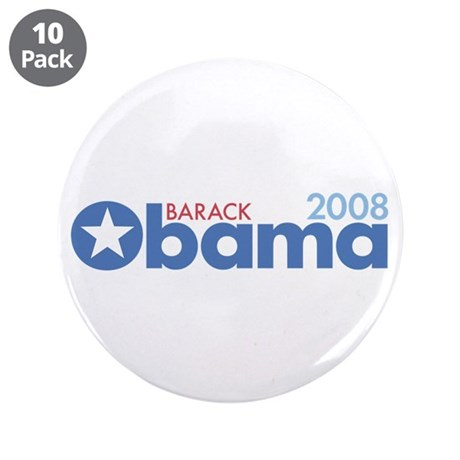 "Barack Obama 2008 3.5"" Button (10 pack)"