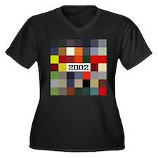 Unique Paintings Women's Plus Size V-Neck Dark T-Shirt